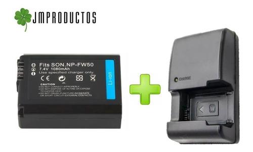 pack 2 baterias np-fw50 sony nex-3 a33 37 alpha 7 + cargador