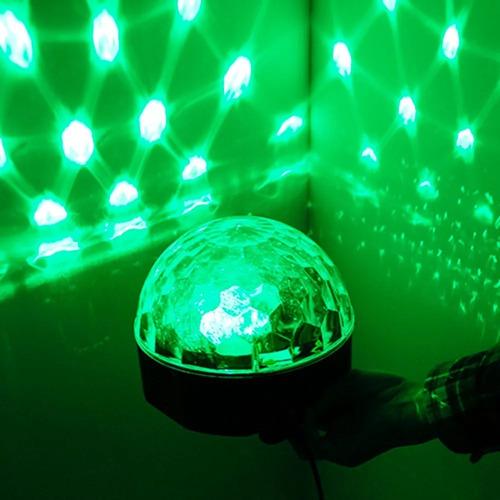 pack 2 bola led magic con mp3 luces de fiesta