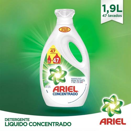 pack 2 botella detergente ariel regular 1,9 lt