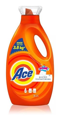 pack 2 botellas detergente ace 1,9l+2 lavaloza limon 750ml