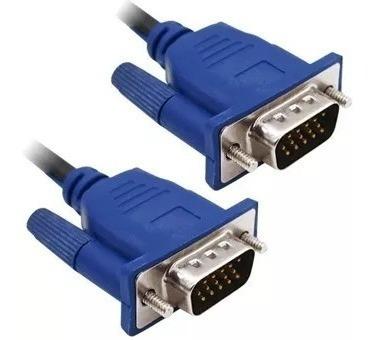 pack 2 cable de 5m vga a vga 15 pin de 2 filtro de ferrit pc