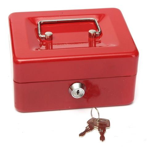 pack 2 caja chica fuerte seguridad dinero metalica 150mm