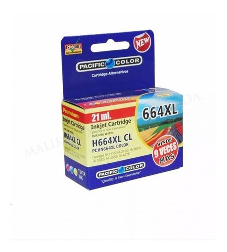 pack 2 cartucho tinta negro y color 664xl 1115 2135 3635