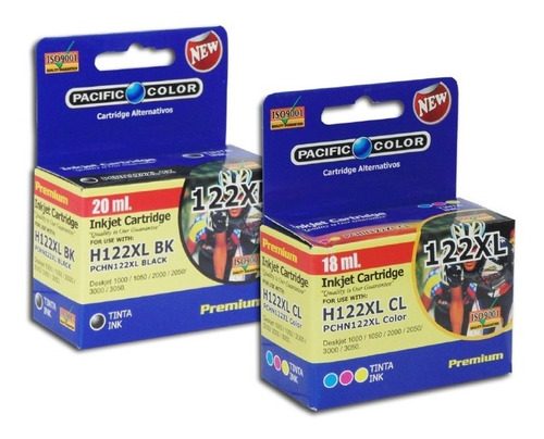 pack 2 cartuchos tinta 122 negro y color para deskjet 1000