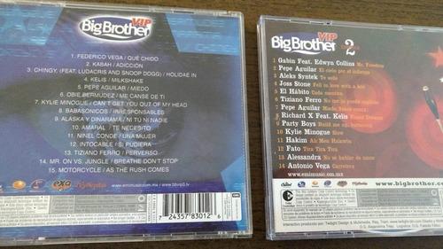 pack 2 cd big brother vip capitulos 1-2 en excelente estado.