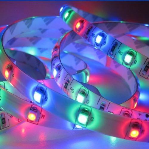 pack 2 cintas tira 300 luces led 5 mt rgb multicolor control