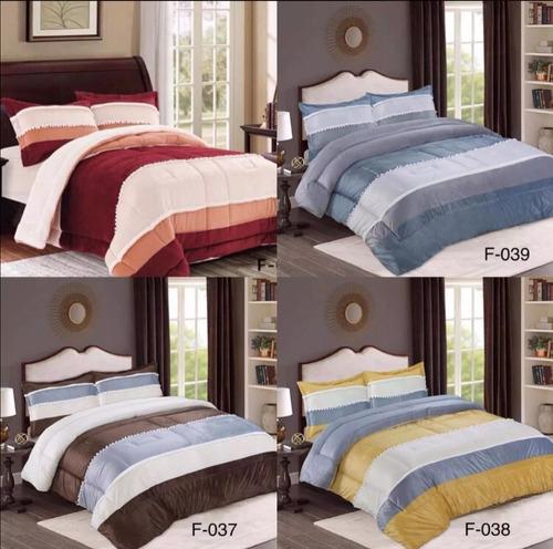 pack 2 cobertores cubrecama grueso con chiporro 40 diseños