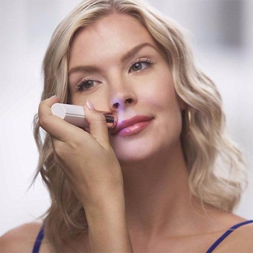 pack 2 depilador afeitadora facial recargable fla cara labio