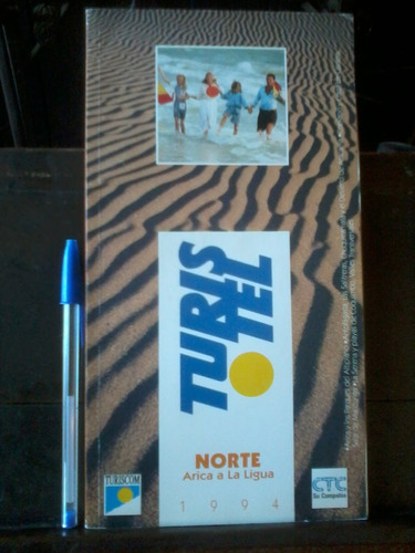 pack 2 guías turistel 1994 - norte - sur + mapa rutero 1995