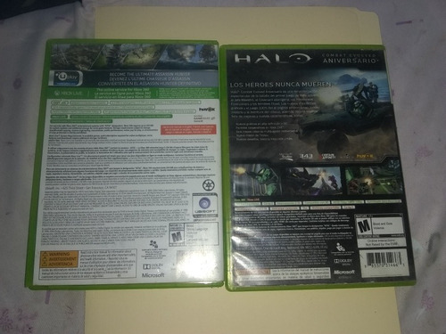 pack 2 juegos: halo cea/assasin scredd rogue