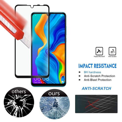 pack 2 láminas vidrio 3d full bordes huawei p smart 2019