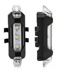 pack 2 luces led bicicleta recargable usb 1 roja 1 blanca