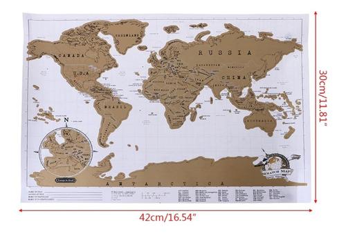 pack 2 mapas para raspar scratch map deluxe edition 82x59cm