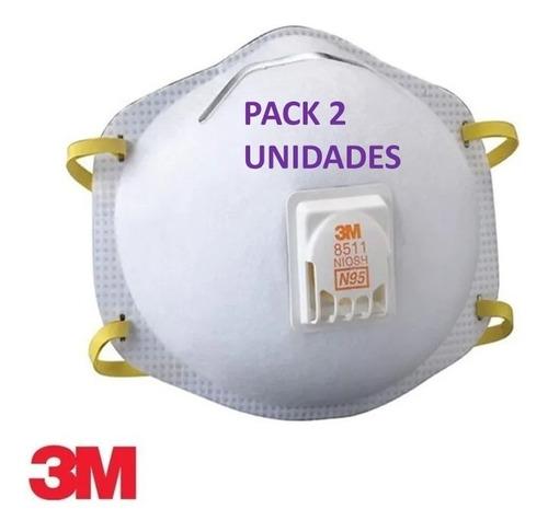 pack 2 mascarilla con filtro 3m con valvula