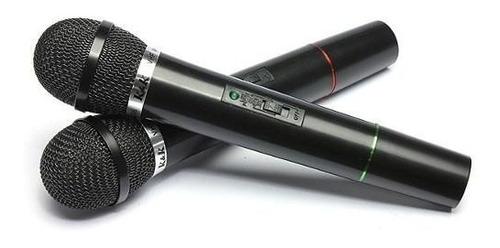 pack 2 microfonos inalambricos para karaoke y animacion