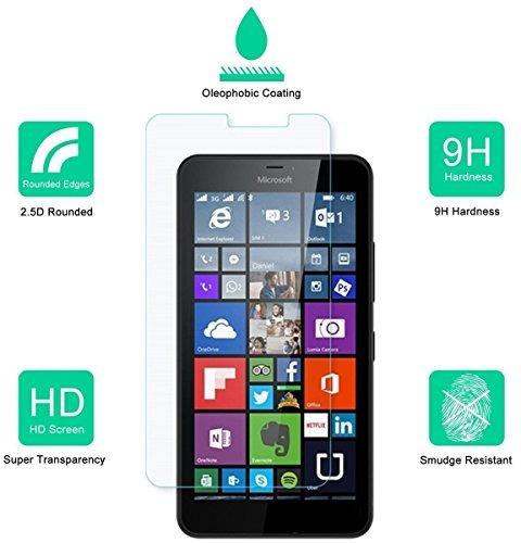 [pack 2] microsoft lumia 640 xl protector de  + envio gratis