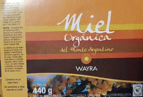pack 2 miel orgánica cerificada. multifloral y monofloral