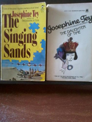 pack 2 novelas de josephine tey -paperbacks en inglés- 1977