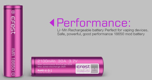 pack 2 pilas baterías efest 18650 3000 mah /blackholestorecl