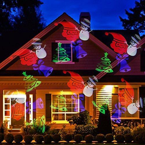 pack 2 proyector led figura navidad navideño / pix