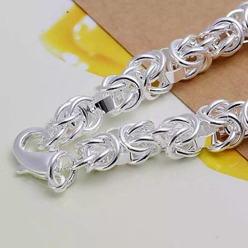 pack 2 pulseras plata esterlina 925 mujer joya