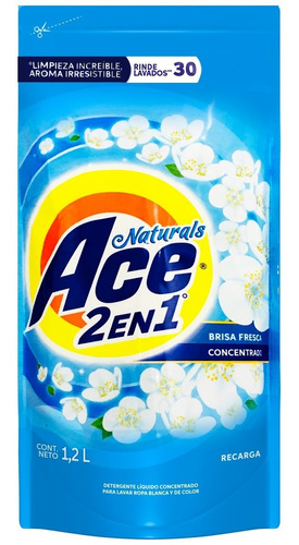 pack 2 recarga pouch detergente ace liquido 1,2 lt