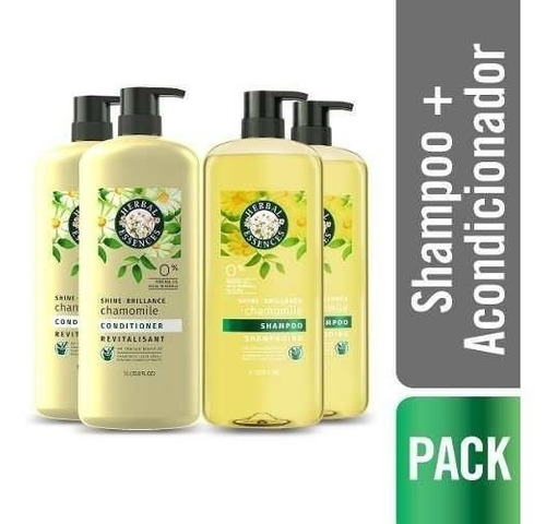 pack 2 shampoo + 2 acond herbal shine collection 1 lt.