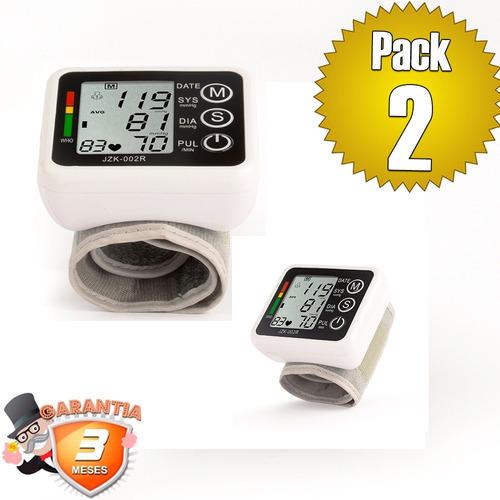 pack 2 toma presión digital muñeca lcd / disparocl