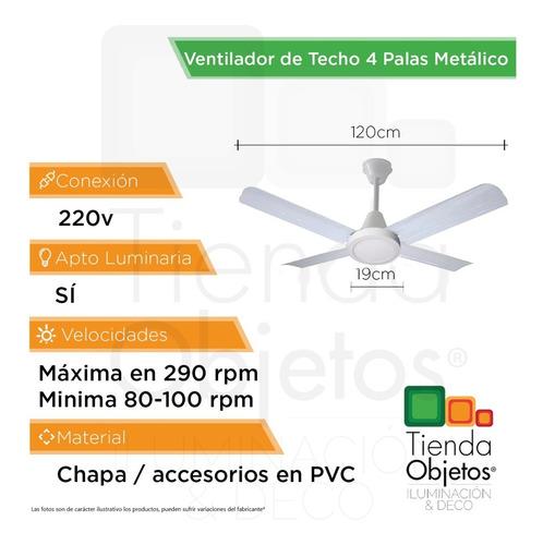pack 2 ventilador techo luz led panel 18w blanco 4 paletas