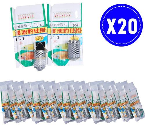 pack 20 anzuelos para carnada pesca deporte / venta ofertas