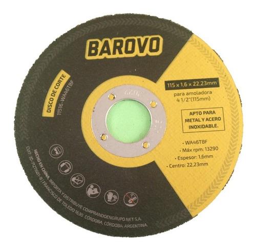 pack 20 discos corte 115mm x 1,6 acero inox amoladora barovo