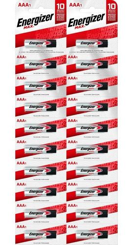 pack 20 pilas alcalinas energizer max aaa mayorista oficial