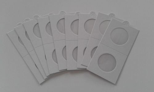 pack 200 cartones adhesivos para monedas (leuchtturm)