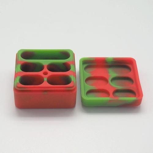 pack 20x oil slick silicone 26 ml 5 divisórias lego dab bho