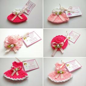 Encintados Para Baby Shower Nina.Pack 24 Encintados Tejidos Crochet Baby Shower Bautizo