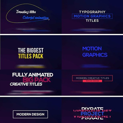 pack 250 grandes títulos after effects