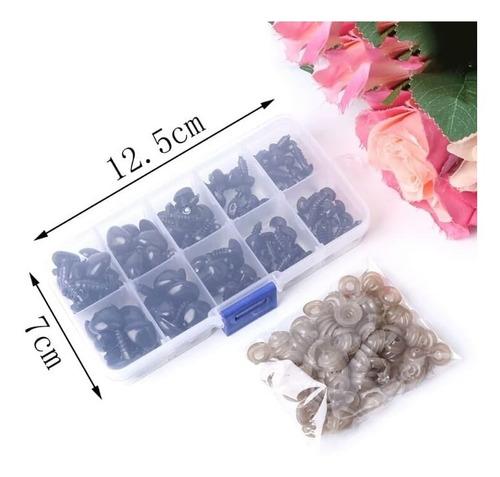 pack 264 unidades ojo + 100 nariz plástico amigurumi