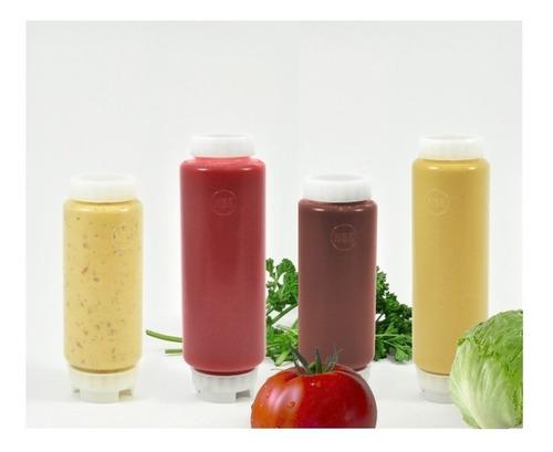 pack 2uds tarro dispensador salsas (1ud=16oz + 1ud=12oz)
