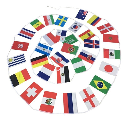 pack 2x banderas guirnalda país futbol