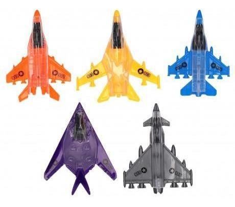 pack 2x: juguete avion x3 uds con lanzador