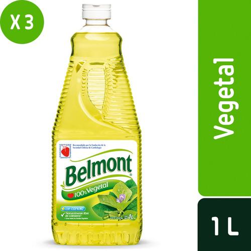 pack 3 - belmont aceite vegetal 1 l