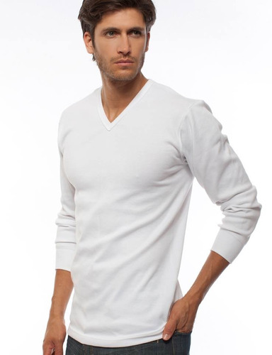 pack 3 camiseta algod eyelit m larga cuello red. o v 173-174
