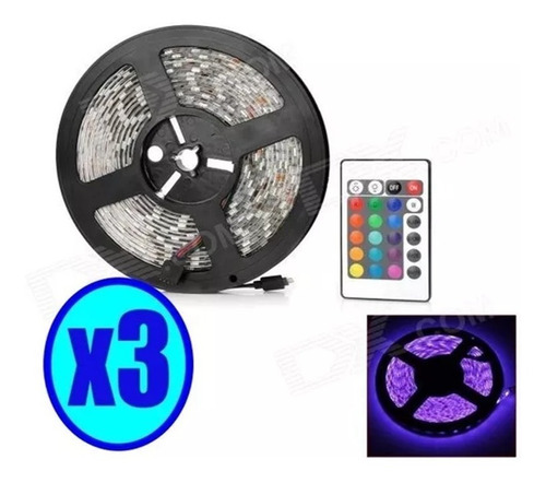 pack 3 cinta tira 300 led 5050 pack completo luces