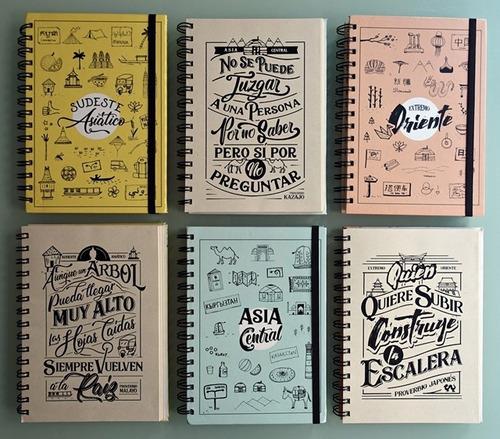 pack 3 cuadernos ilustrados de viajes