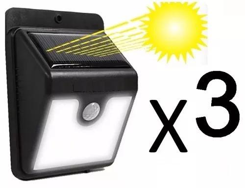 Pack 3 focos solares exterior foco led solar sensor everbrit en mercado libre - Focos solares exterior ...