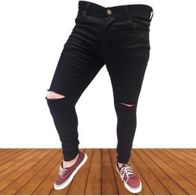 comprar baratas clásico fecha de lanzamiento: Pantalon Negro Hombre Roto Pantalones - Pantalones, Jeans y ...