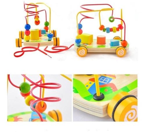 pack 3 juguetes de madera  niños didactico multifuncional