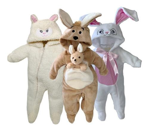 pack 3 mamelucos borrega, coneja, canguro a precio de 2