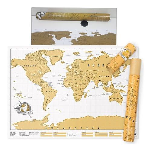 pack 3 mapas para raspar scratch map deluxe edition 82x59cm