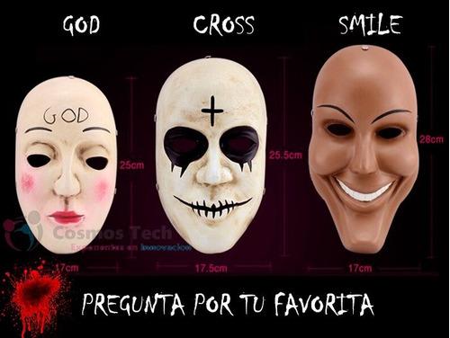 pack 3 mascaras the purge, purga, halloween, importadas